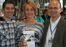 Author Kristen Feola, Justin Feola, and Bruce Erdel