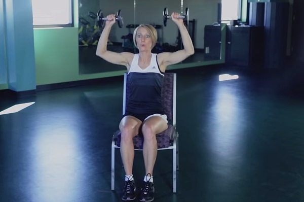 """How to Do a Dumbbell Shoulder Press"" by Kristen Feola"